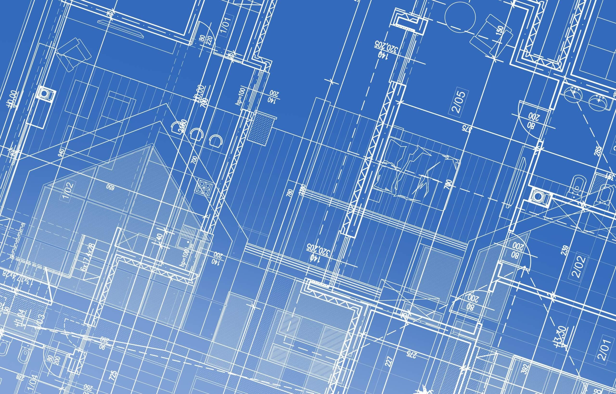 House Project Blueprint Background Illustration. Architectural Backdrop